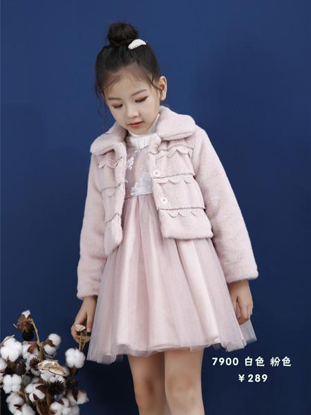 Ceicei熙熙童装品牌2019秋冬唐装长袖中国风超仙连衣裙