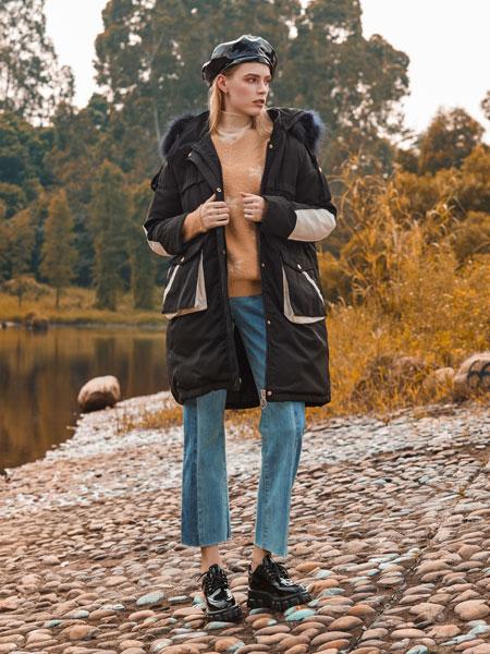 木丝语女装品牌2019秋冬轻薄羽绒服外套