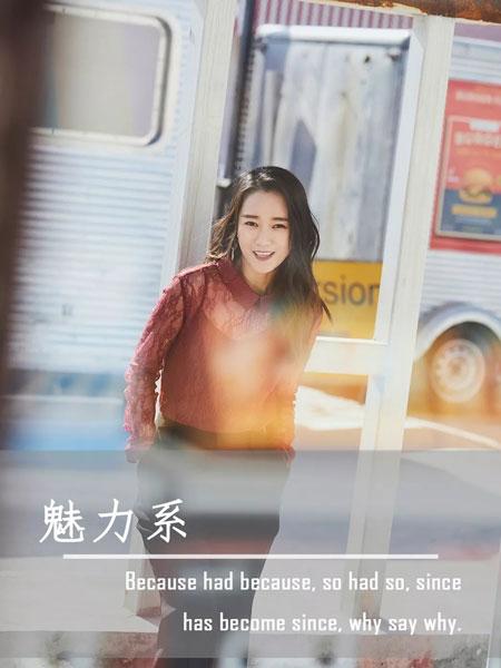 零时尚女装品牌2019秋冬知性红色上衣