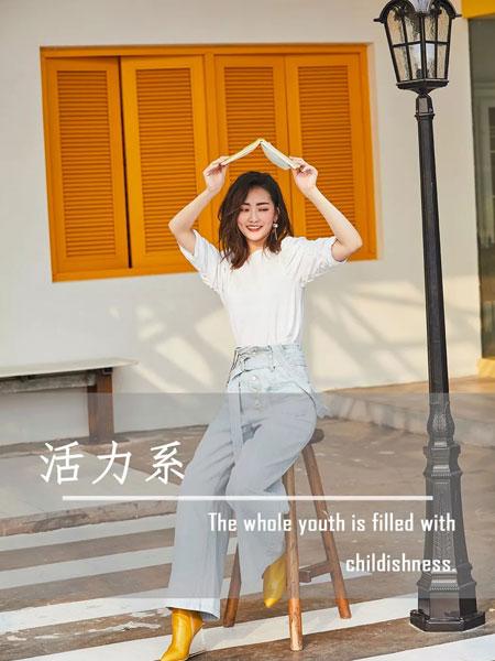 零时尚女装品牌2019秋冬休闲纯白T恤上衣
