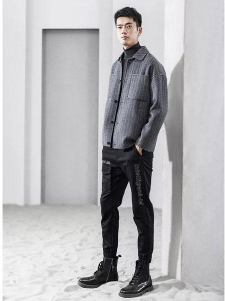 1943S男装品牌2019秋冬男士时尚毛呢外套