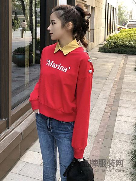 18Fans女装品牌2019秋冬卫衣