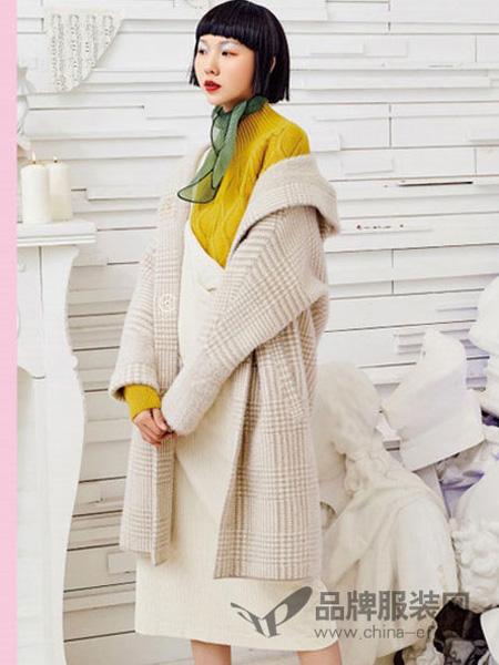 邻家女孩女装品牌2020春夏双面仿水貂绒呢子大衣