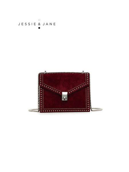 JESSIE&JANE及简箱包品牌2019秋冬女包新款链条包信封单肩包斜挎包