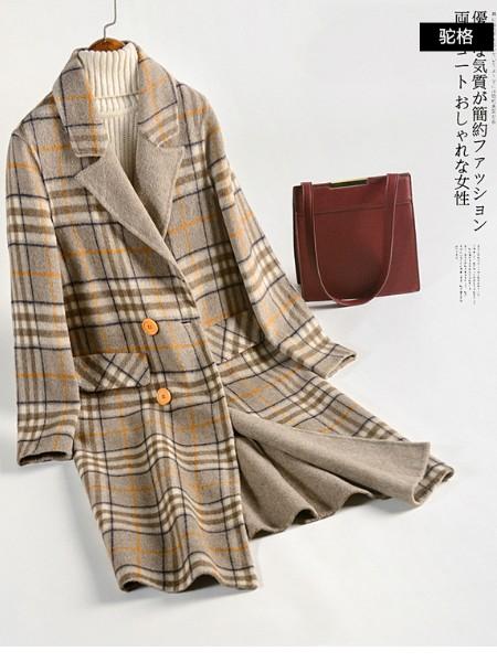 武汉艾薇儿货源批发胖美人时尚大码毛呢大衣