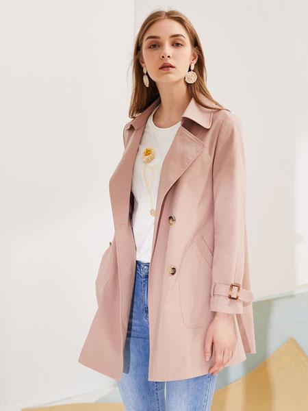 安卡茜女装品牌2019秋冬时尚气质风衣