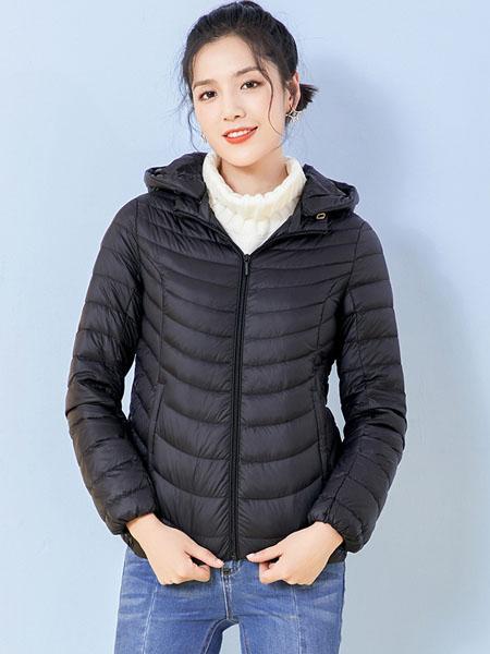 千仞岗女装品牌2019秋冬时尚轻薄羽绒服
