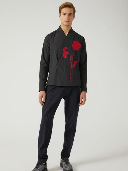 Giorgio Armani乔治·阿玛尼男装品牌2019秋冬时尚印花衬衣