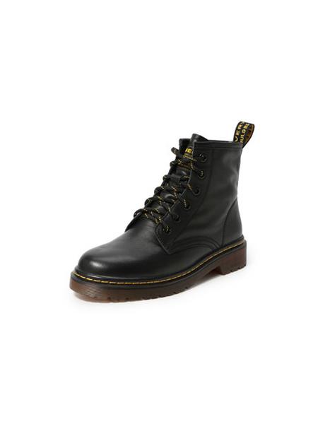 百丽 BELLE鞋帽/领带品牌2019秋冬新款保暖牛皮英伦风短靴