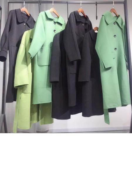 女装尾货批发时尚高端双面羊绒大衣