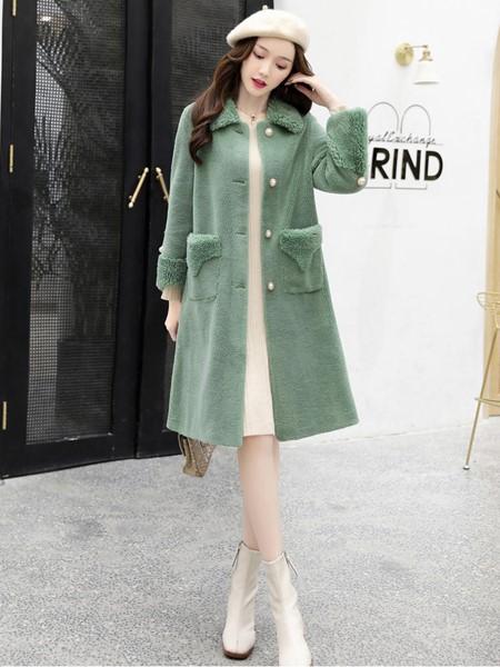 芊伊朵女装品牌2019秋冬时尚保暖毛呢外套