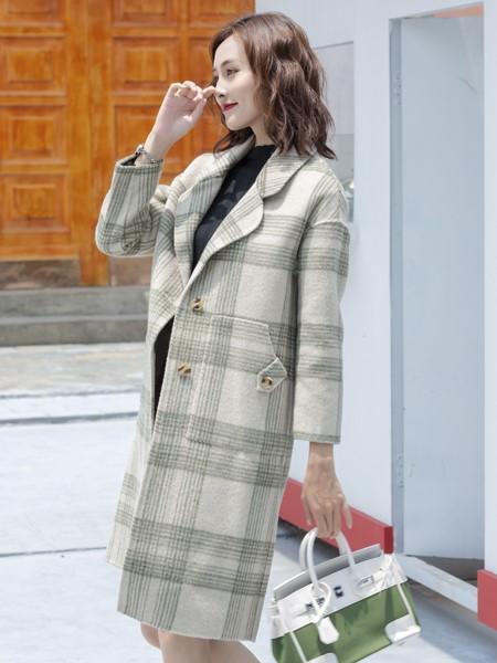芊伊朵女�b品牌2019秋冬�r尚保暖毛呢大衣