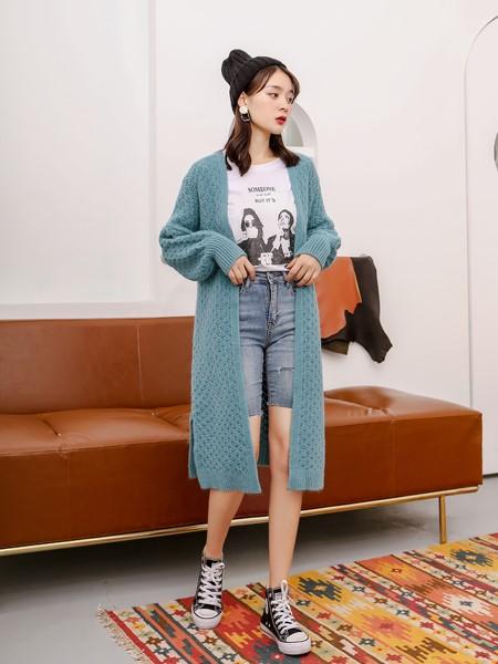 芊伊朵女装品牌2019秋冬时尚开衫外套