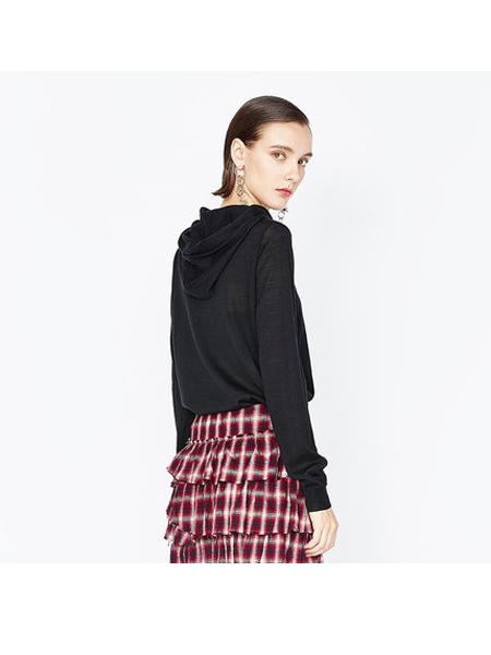 DAZZLE地素女装品牌2019秋冬纯棉修身卫衣