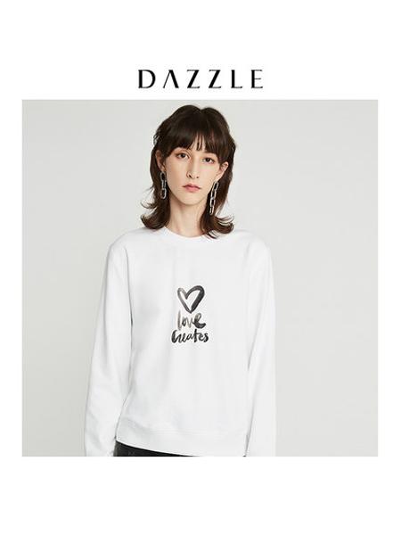 DAZZLE地素女装品牌2019秋冬纯棉印花女
