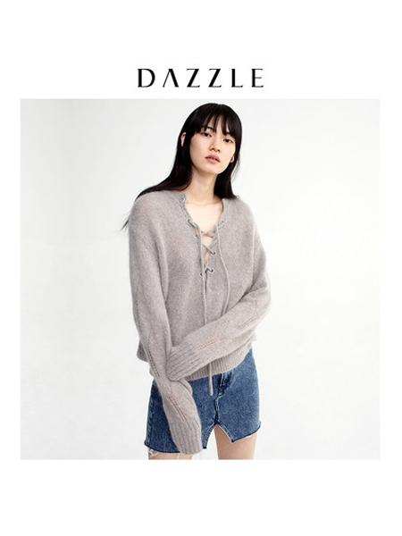 DAZZLE地素女装品牌2019秋冬时尚羊毛衫女