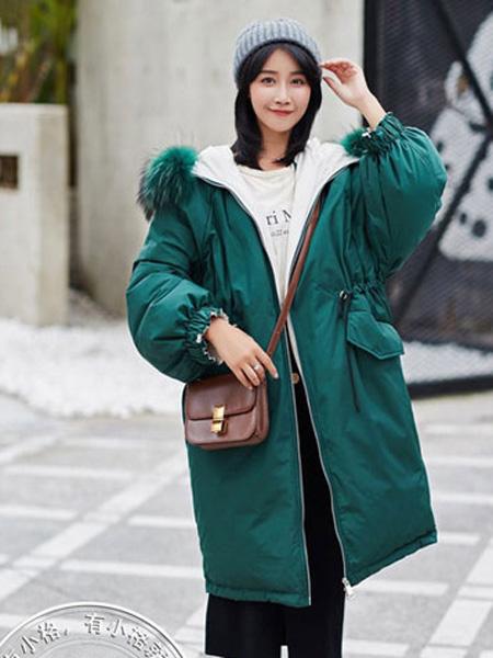 芝麻E柜女装品牌2019秋冬长款羽绒服