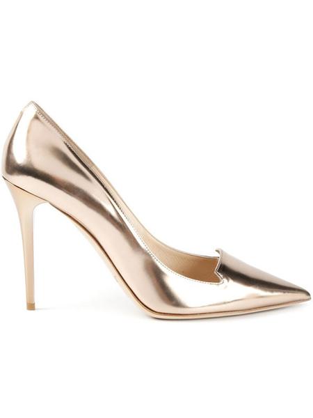 Alejandro Ingelmo国际品牌品牌气质流沙金高跟鞋