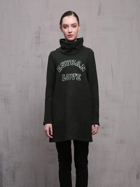 针丝缘女装品牌2019秋冬高领针织衫