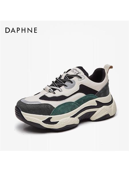 Daphne达芙妮箱包品牌2019秋冬厚底拼接运动老爹鞋女透气街头单鞋