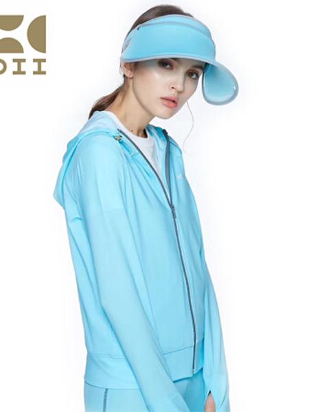 HOII休闲品牌2019秋季束口连帽率性拉链外套防晒衣