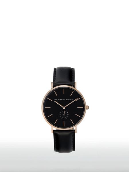 Alfred Sung国际品牌皮带机械手表