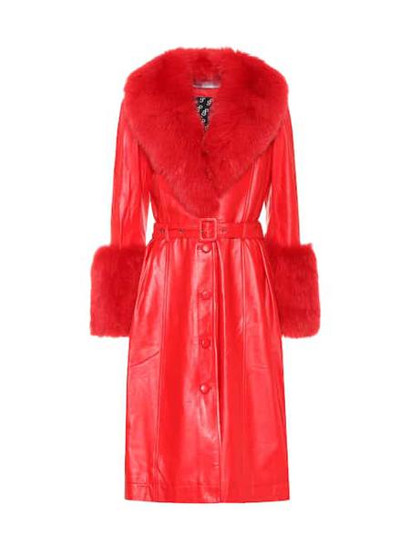Saks Potts国际品牌品牌皮制收腰大衣