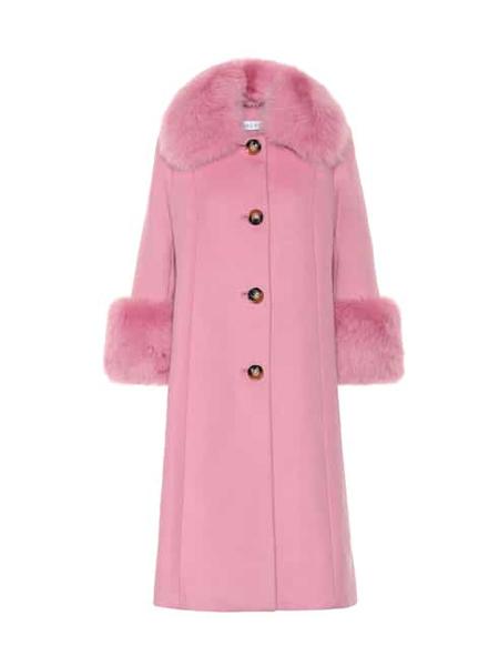 Saks Potts国际品牌品牌宽松毛呢大衣