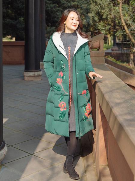 尤瑾女装品牌2019秋冬绣花外套