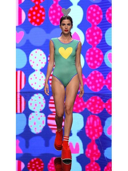 Agatha Ruiz de la Prada国际品牌品牌连体内衣爱心图案
