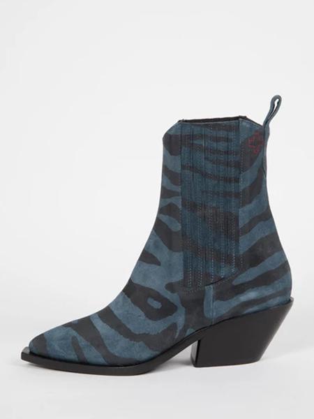 A.F.Vandevorst国际品牌印花短靴