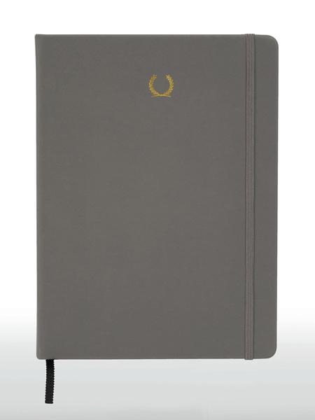 Alfred Sung国际品牌灰色商务笔记本