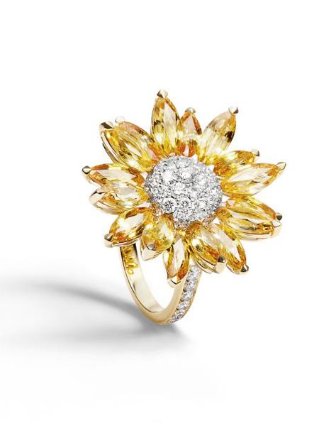 Asprey国际品牌品牌大花朵戒指