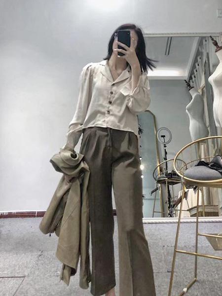 靓客女装品牌2019秋冬衬衫