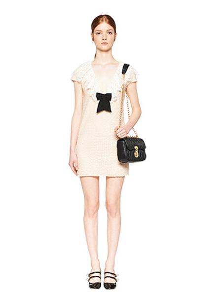 缪缪Miu Miu女装品牌2020春夏白色裙