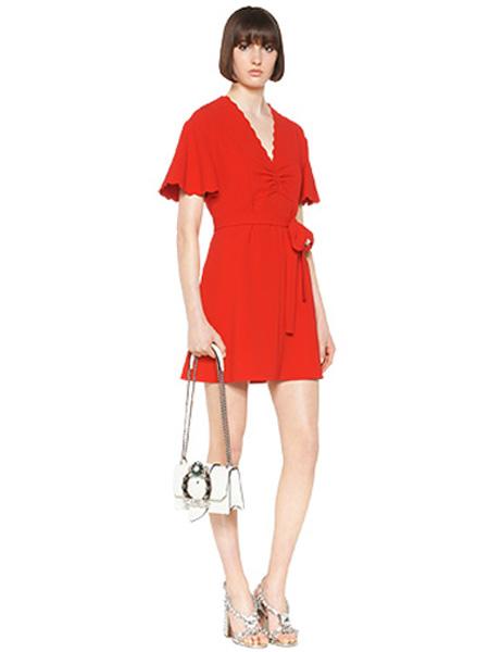 缪缪Miu Miu女装品牌2020春夏红色连衣裙