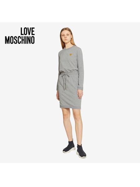 Boutique Moschino国际品牌品牌女士抽绳束腰简约休闲针织连衣裙