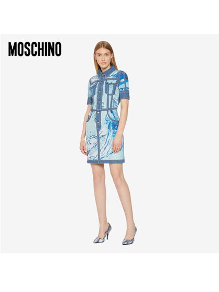 Boutique Moschino国际品牌品牌女士萌趣卡通人物图案印花连衣裙