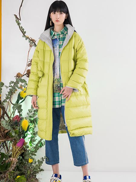 芙纯FULLPURE女装品牌2019秋冬带帽长款羽绒韩版