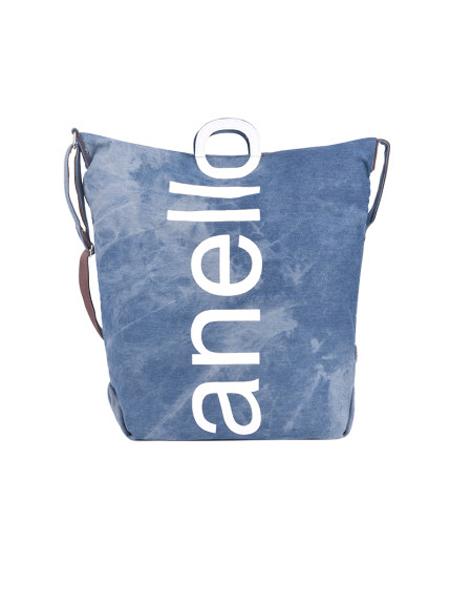 anello箱包品牌2019秋冬大logo单肩包帆布两用日本时尚大容量手提单肩斜挎包