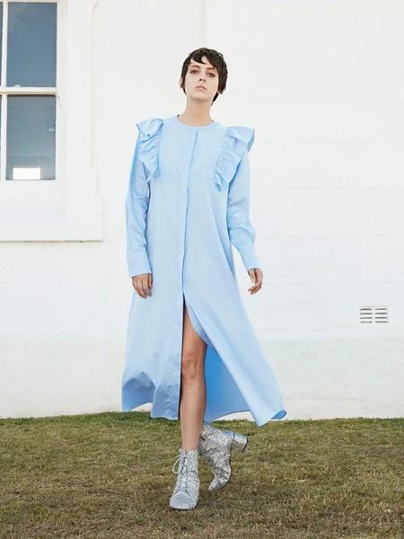 macgraw国际品牌品牌宽松棉麻连衣裙
