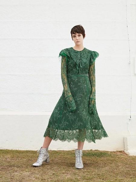 macgraw国际品牌蕾丝清新连衣裙