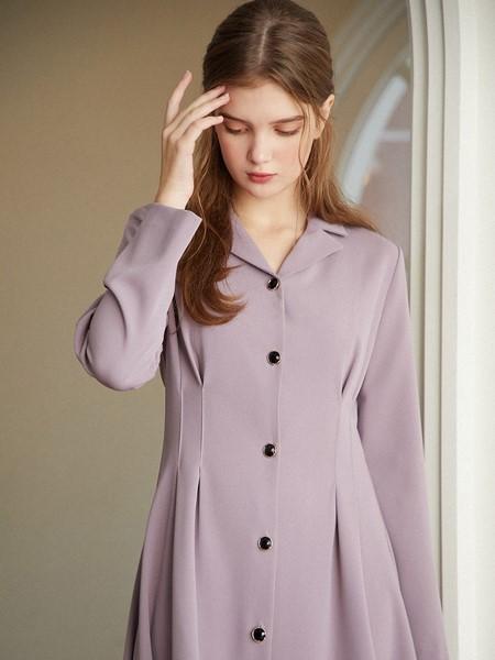 Hackesch国际品牌品牌收腰复古连衣裙