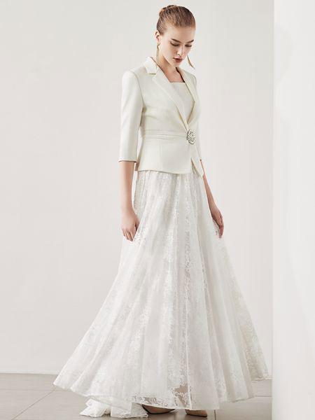 迪图DITTO秋冬装白色外套 淑女女神成熟