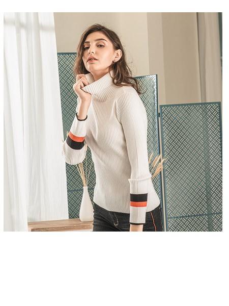 潮流前线女ins针织衫2019冬季新款韩版时尚学生修身高领针织毛衫