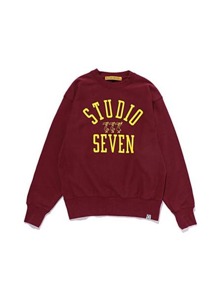 STUDIO SEVEN国际品牌品牌印花圆领卫衣