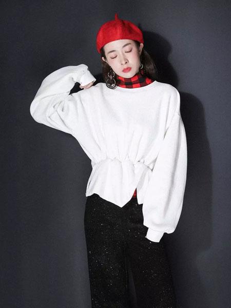 JOU SEO MOK女装品牌2019秋冬 纯色长袖上衣 清新可爱