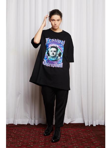 Salasai国际品牌品牌印花纯棉短袖