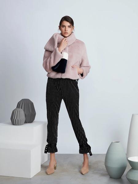 N12H国际品牌时尚短款毛绒外套