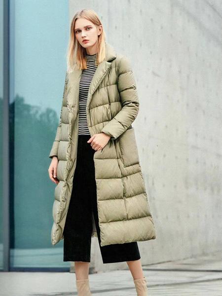 司合伊女装品牌2019秋冬长款羽绒服